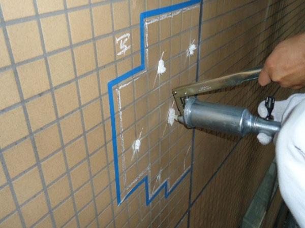 外壁下地モルタルの浮き補修方法 Door